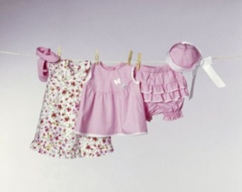 BABY GIRL PATTERN / Top - Dress - Panties - Hat / 3  to 18 Months