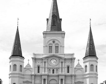 St Louis Cathedral New Orleans-8x10-B&W Fine Art Photo-Certificate of Authenticity-Signed by Artist