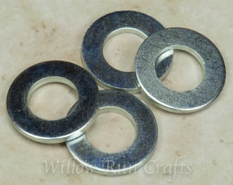 100 Silver Colored 8 mm Washers for your bottle cap necklaces (07-04-120)