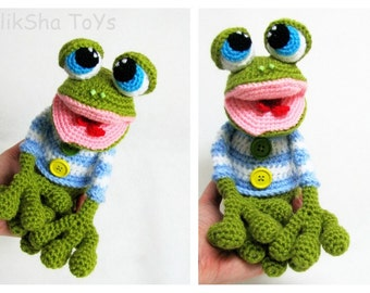 Crochet toy Amigurumi Pattern - Mr. the Frog.