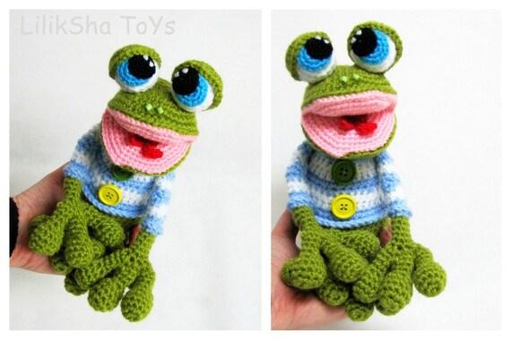 Crochet toy Amigurumi Pattern - Mr. the Frog.
