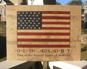 Large Rustic Wood American Flag, Wooden American Flag, Wood and Metal Flag Art, Metal American Flag Wall Art, America Flag Wall Art