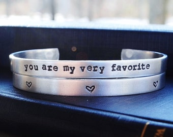 You Are My Very Favorite Bracelet Set - Valentine's Day - Heart - Romantic - Gift - For Her - Under 25 -  Looks Like Silver - Rustic