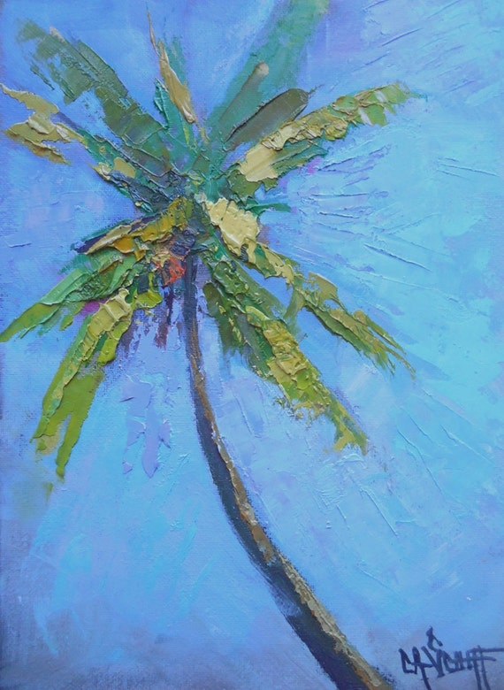 Impressionist tropical landscape palm tree painting daily for Painting palm trees