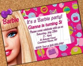 Custom Made Birthday Invitation - 5 x 7 print - Digital Delivery