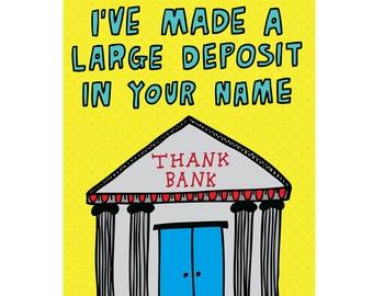 Thank You Card - Thank Bank