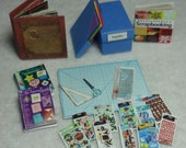 Mini Heritage Scrapbook Album and Scrapbook Accessories - set 7