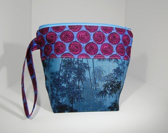 Mini zip - Lined Project Bag - 100% Cotton