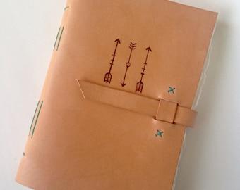 Leather Arrow Watercolor Journal