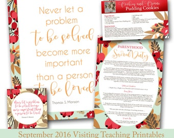 September Visiting Teaching Message Printables