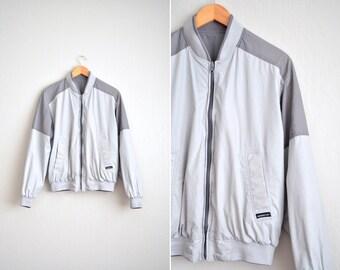 vintage men's '80s grey colorblock REVERSIBLE MEMBERS ONLY club jacket. size m.