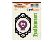 Halloween Skull and Bones Clear Stamp Set