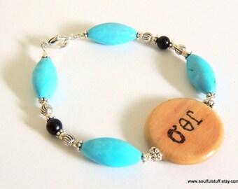 Friendship Bracelet, Cherokee Language, Turquoise Jewelry, Tourmaline Jewelry, Handcrafted Jewelry, Gemstone Jewelry, Best Friend Jewelry