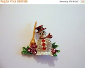 50% OFF Large Needle minder, Needle Nanny, Cross stitch, Snowman, Embroidery - Christmas gift, Stocking Filler