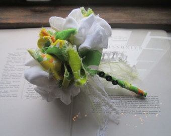 Handmade Vintage Fabric Wedding Bouquet
