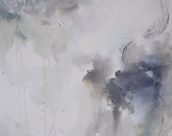 Ask Me Tomorrow - Abstract Art - Mixed Media on Paper - Original Art
