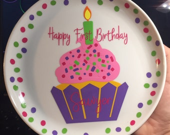 First Birthday Plate
