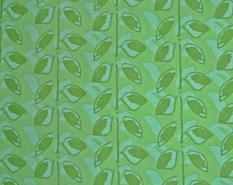COUPON Code Sale - Free Spirit Fabric, Happiness, Sugar Snaps, Green, Kathy Davis, Designer Cotton Quilt Fabric, Quilting, END of BOLT