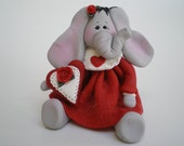 RESERVED FOR TERESA - Polymer Clay Elephant by Helen's Clay Art