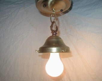 "New brass light fixture for vintage 30s art deco globe shade 4"" fitter"