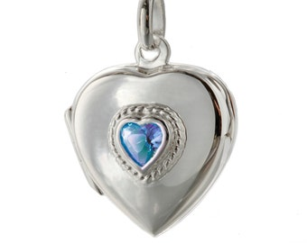 Birthstone  Lockets, Add Personal engraving