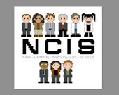 NCIS Pixel People Character Cross Stitch pdf PATTERN ONLY