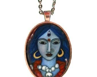 Strong Kali Goddess Pendant- Goddess Jewelry - Hindu Goddess - Goddess Art - gifts for her - girlfriend gift necklace - Boho