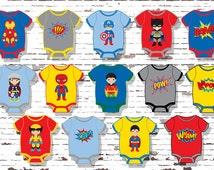 Superhero Cupcake Toppers, Superhero Baby Shower, INSTANT DOWNLOAD, YOU Print, Superhero Party, Superhero Baby, Superhero Party Accessories