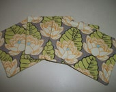 SALE - Fabric Coaster Set of 4 Lotus Blossom Amy Butler