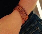 Glass Autumn tile cuffs