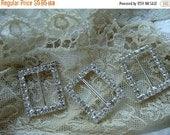 20PercentOff Rhinestone Rectangular Metal Buckles Lot
