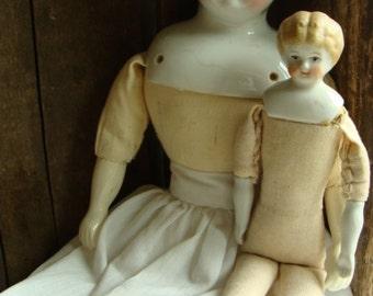 Antique Beautiful Blonde German Rare Small Porcelain Bisque Doll