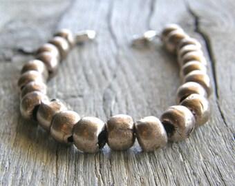 Men's or Women's Medical ID Detachable Bracelet, African Silver Replacement Bracelet