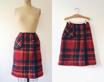 Pendleton skirt / vintage plaid skirt / Plaid Knockabouts skirt