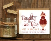 Tattletale Elf Letterpressed Greeting Card