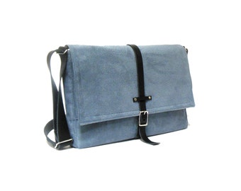 "11"" / 13"" MacBook Air messenger bag - smoky blue"