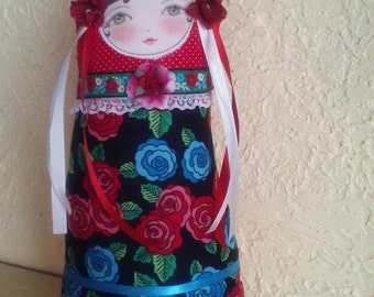 Cloth Doll, Matryoshka, Nesting Doll, Collectible doll, Paper Weight