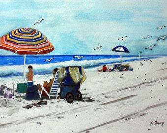 Lazy Daze on lbi, NJ-original painting-SIGNED PRINTS 8 X 10 -15.00, 11 x 14 - 25.00, 13 X 19- 35.00. Message me and I will list them .