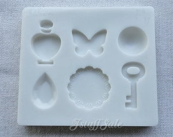 Flexible push mold for resin and clay crafts (B) 6 cavities
