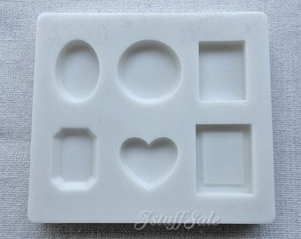 Flexible push mold for resin and clay crafts (D) 6 cavities