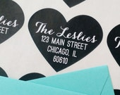 Custom Address Heart Stickers for Alicia