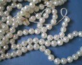 RESERVED for PAT  Vintage Crushed White Pearls 7 mm