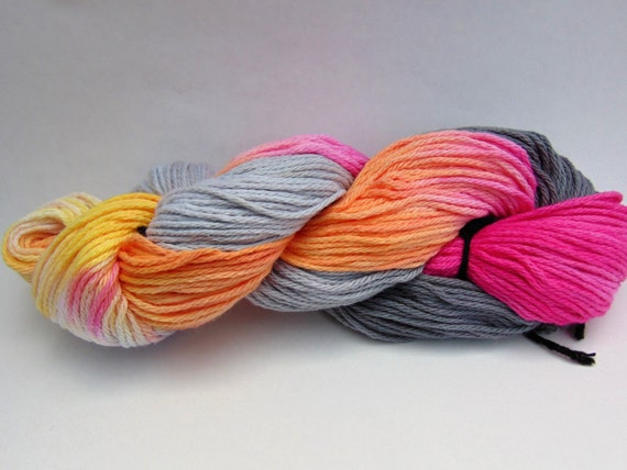 """After The Storm-""""Storm Warning Collection"""" 100 Organic Cotton, Hand Dyed, Bulky weight, Hand Painted"""