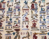 RESERVED FOR CAROL - Timeless Treasures Sphinx Collection - Rare Hieroglyphics on Cream - 1 Scant Yard - #E7