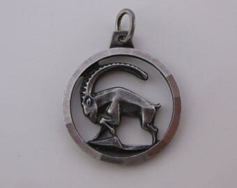 Vintage Anson Sterling Silver Ram Charm