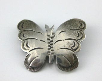 Brooch, Pin, Sterling Silver, Butterfly, Animal Jewelry, Southwestern, Hallmark WB