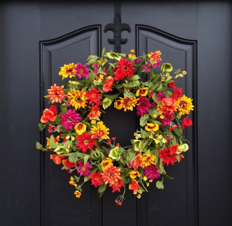 Front Door Decorations For Summer: Spring Summer Door Decor Spring Wreath For Front By