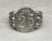 A Tiny Sterling Signet Ring in a Size 5
