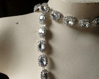 "SALE 9"" Rhinestone Trim  for Bridal,  Sashes, Headbands, Jewelry"