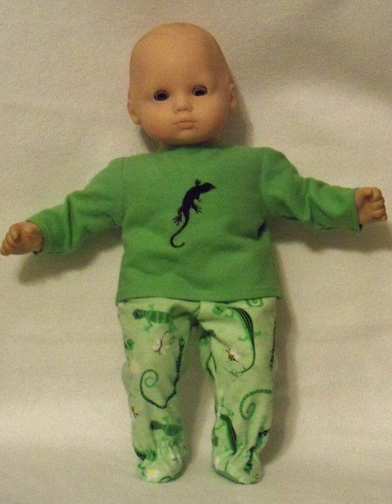 15 inch Doll Gecko Pajamas with Feet